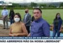 """Bolsonaro discursa para apoiadores e diz que """"só Deus o tira da presidência"""""""