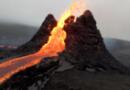 Na cara do gol! Imagens de drone mostram erupção de vulcão bem de pertinho